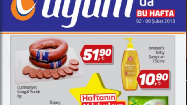 Uyum Market 2 Şubat 8 Şubat 2018 Kataloğu