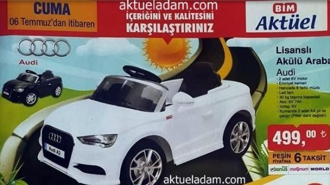 Bim 6 Temmuz 2018 Audi Lisanslı Akülü Araba İncelemesi ve Yorumları