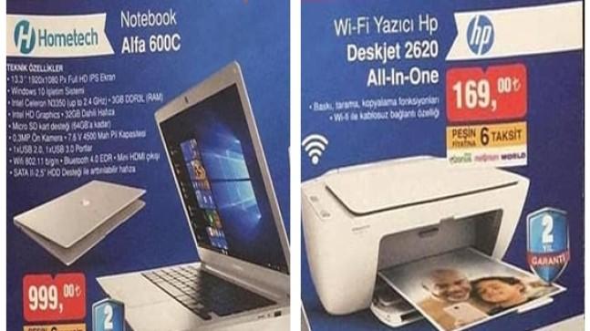 Bim 30 Kasım 2018 Hometech Notebook Alfa 600c ve Hp Wifi Yazıcı Deskjet 2620 All-in One İncelemesi