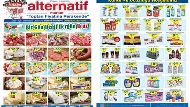 Alternatif Market 27 Kasım 10 Aralık 2018 Kataloğu