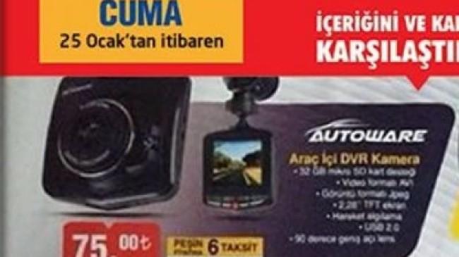 Bim 25 Ocak 2019 Autoware Araç İçi Dvr Kamera İncelemesi
