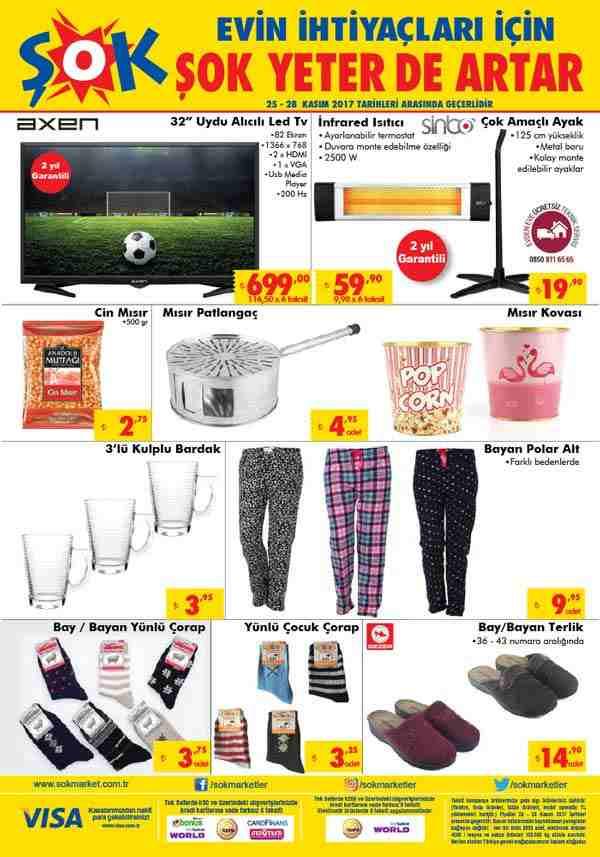 Şok 25 Kasım 2017 Aktüel Ürünler Kataloğu İnfrared Isıtıcı