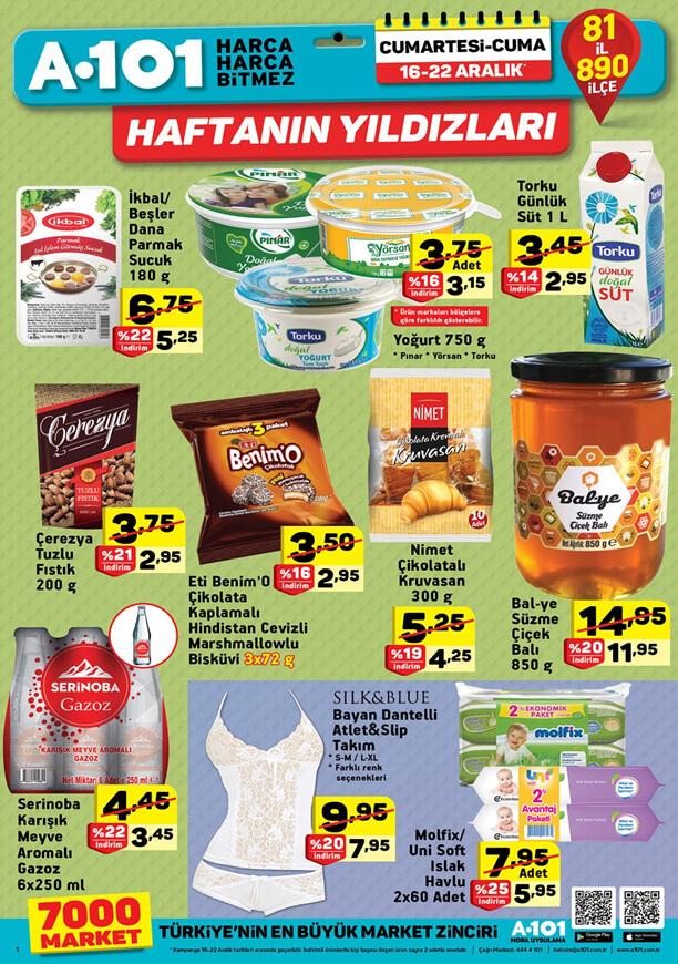 A101 16 Aralık 2017 Hafta Sonu Fırsatları Kahvaltılık