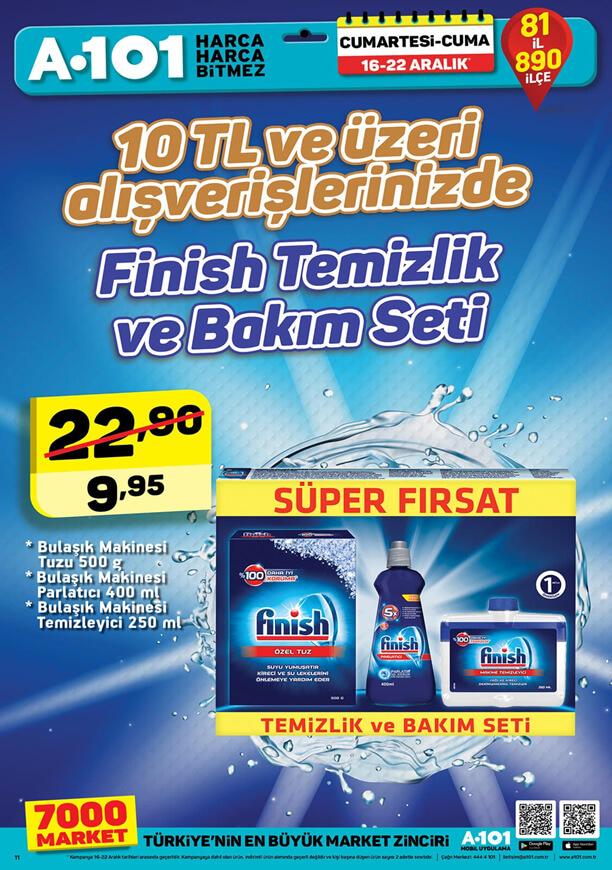 A101 16 Aralık 2017 Hafta Sonu Fırsatları Temizlik ürünleri