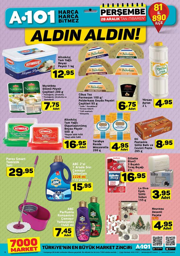 A101 28 Aralık 2017 şarküteri ürünleri