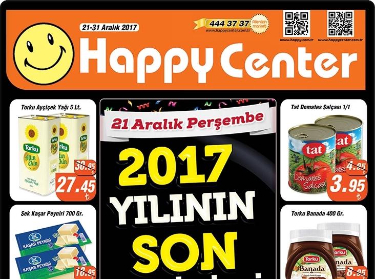 Happy Center 21-31 Aralık 2017 ön kapak