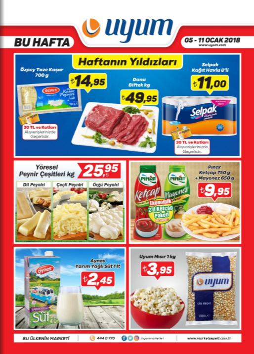 Uyum Market 5 Ocak 11 Ocak 2018 Kataloğu sayfa1