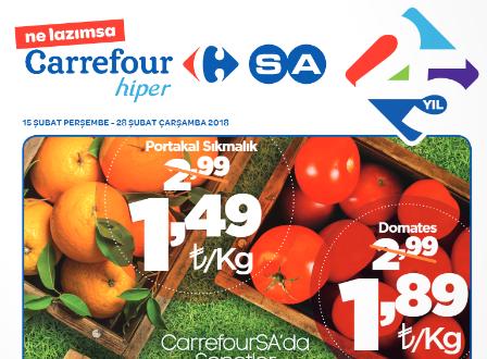 CarrefourSA 15 Şubat 28 Şubat 2018