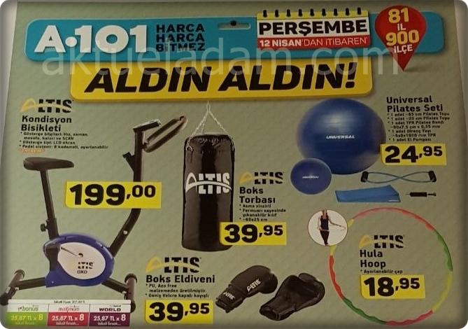 A101 Altis Boks Eldiveni Boks Torbası - Altis Kondisyon Bisikleti - Altis Hula Hoop - Universal Pilates Topu