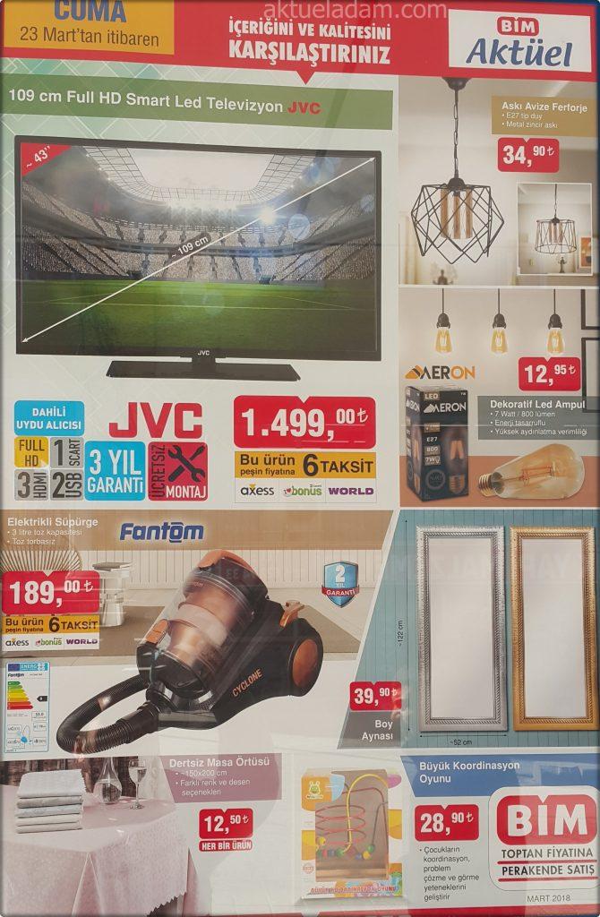 Bim 23 Mart 2018 jvc 109 cm full smart led televizyon