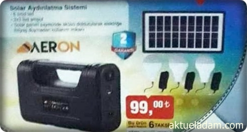 Bim Aeron Solar Aydınlatma Sistemi
