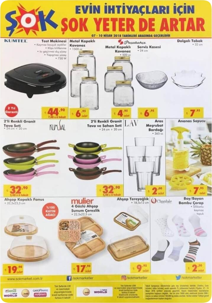 Şok Hafta Sonu 7 Nisan 2018 kumtel tost makinesi