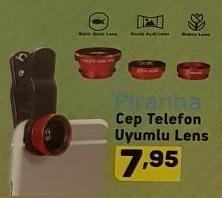 A101 Piranha Cep Telefonu Uyumlu Lens