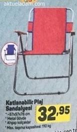A101 7 Haziran 2018 Katlanabilir Plaj Sandalyesi