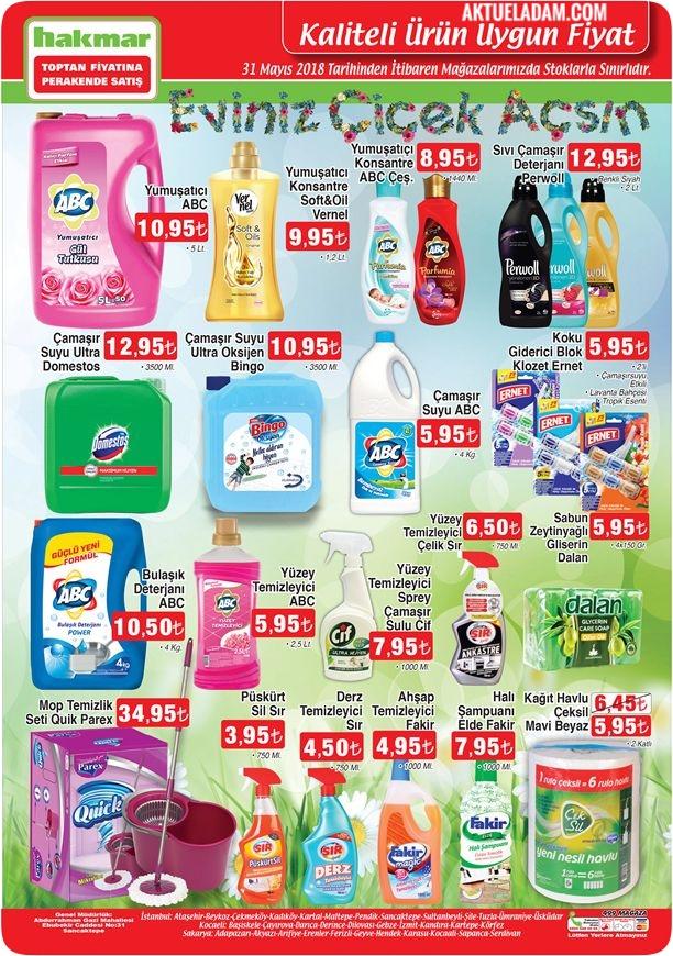 Hakmar 31 Mayıs 2018 indirimli temizlik ürünleri