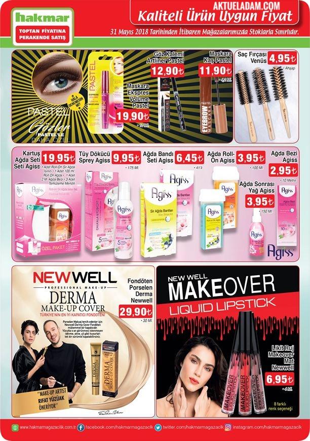 Hakmar 31 Mayıs 2018 kozmetik ürünleri