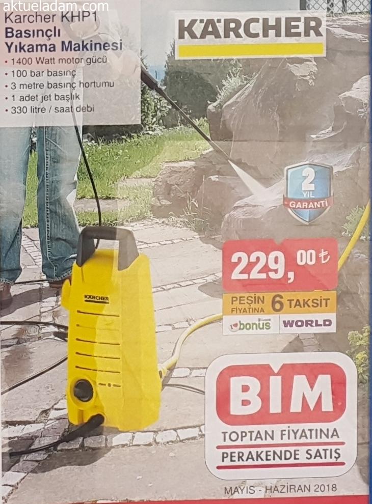 bim 25 mayıs 20118 karcher khp1 basınçlı yıkama makinesi