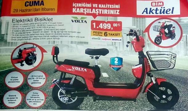 Bim 29 Haziran 2018 Volta Elektrikli Bisiklet İncelemesi ve Yorumları