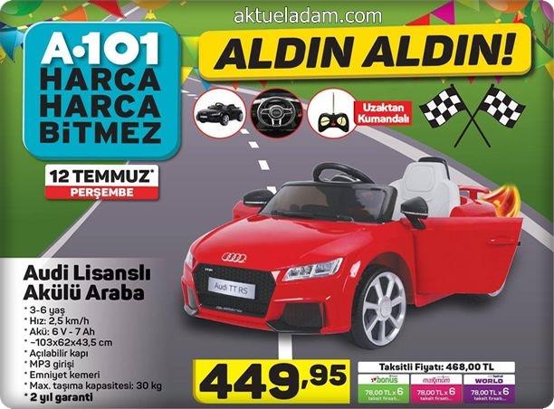 A101 12 Temmuz 2018 Audi Lisanslı Akülü Araba İncelemesi