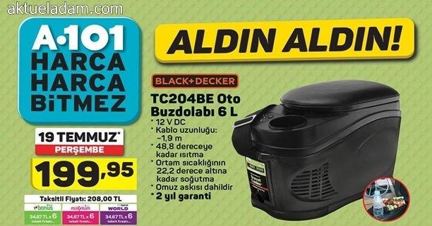A101 19 Temmuz 2018 Black Decker TC204BE Oto Buzdolabı İncelemesi