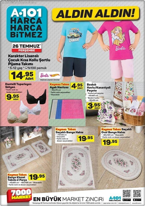 a101 26 temmuz 2018 karakter lisanslı çocuk kısa kollu şortlu pijama takımı