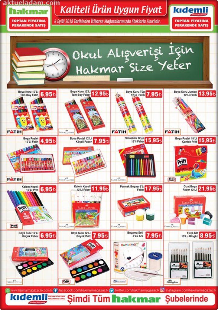 hakmar 6 eylül 2018 fatih okul ürünleri