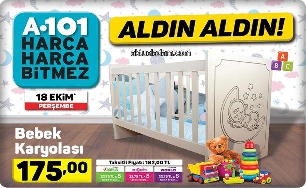 A101 18 Ekim 2018 Yenidoğan Bebek karyola