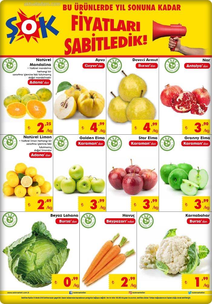 şok 14 kasım 2018 taze sebze meyve ürünleri