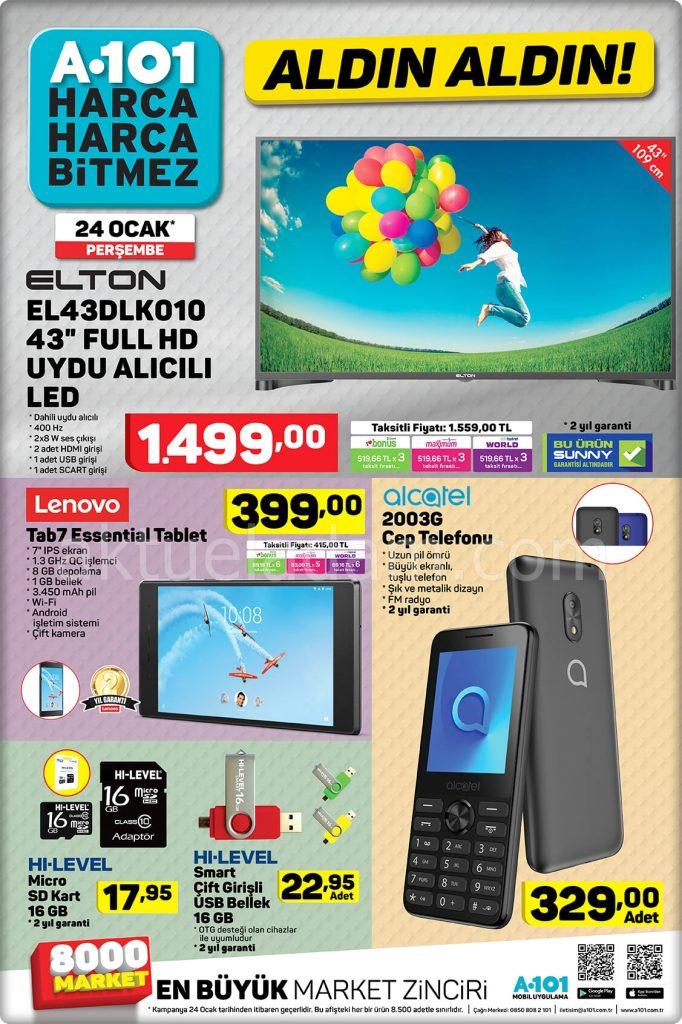 a101 24 ocak 2019 lenovo tab7 essential tablet