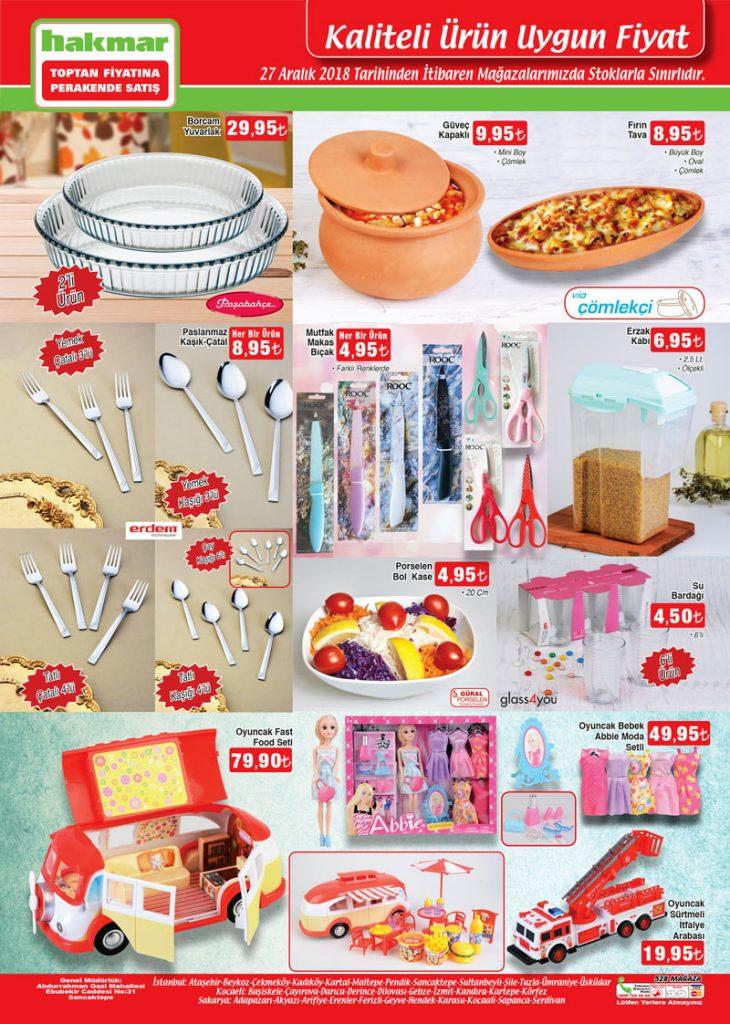 hakmar 27 aralık 2018 mutfak züccaciye ürünleri