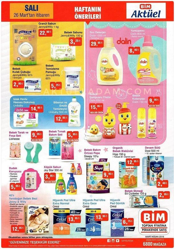 Bim 26 mart 2019 bebek şampuan çeşitleri