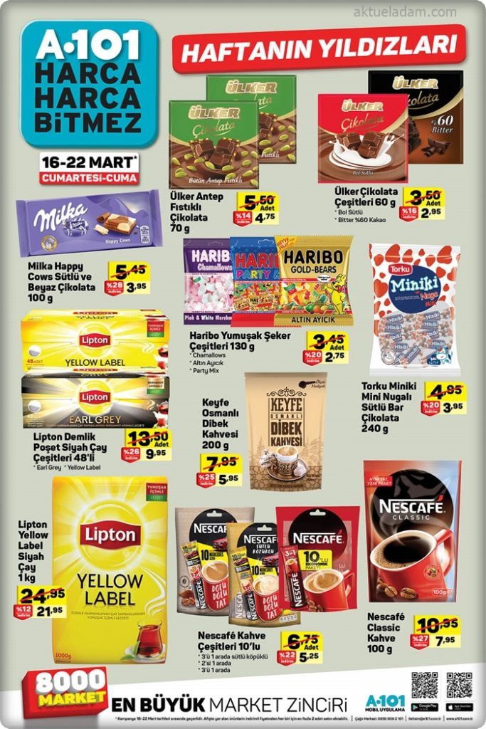 a101 16 mart 2019 haftanın çikolata ürünleri