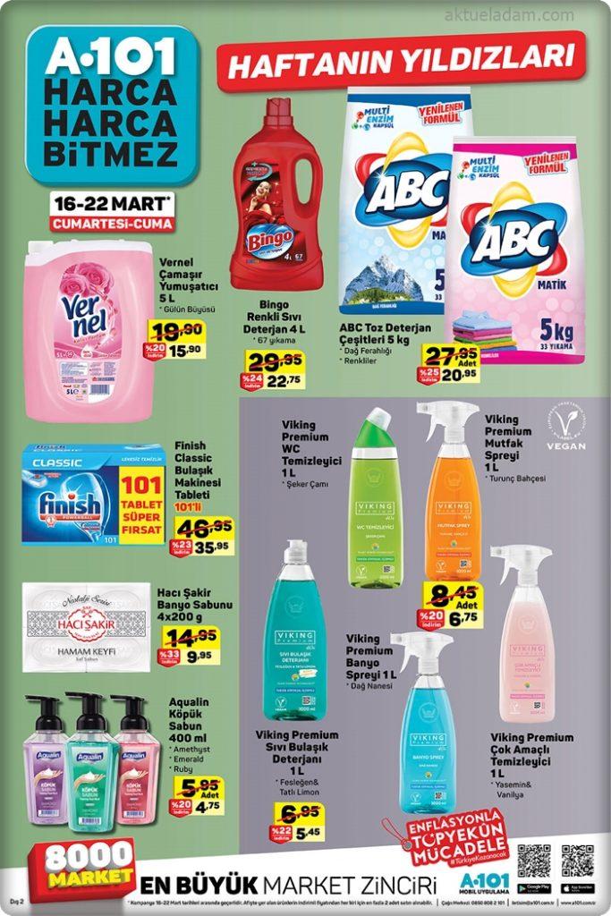 a101 16 mart 2019 haftanın temizlik ürünleri