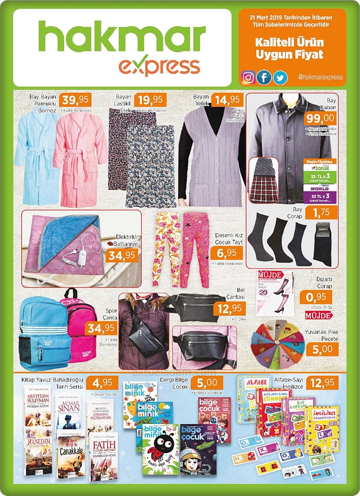 hakmar 21 mart 2019 bay bayan giyim ürünleri