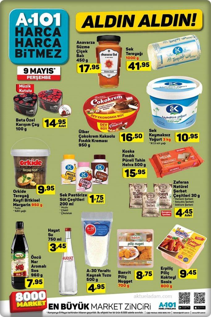 a101 9 mayıs 2019 gıda ürünleri