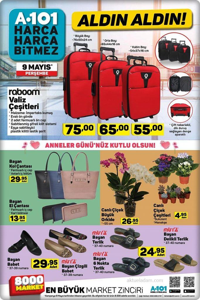 a101 9 mayıs 2019 roboom valiz çeşitleri