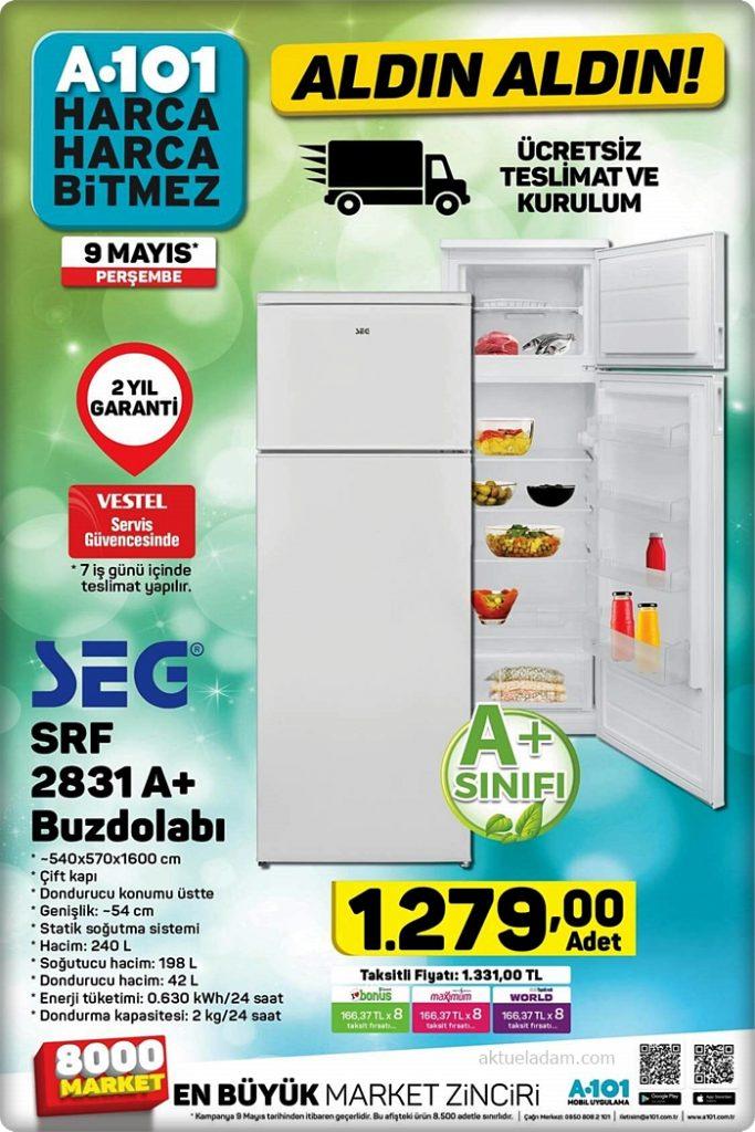 a101 9 mayıs 2019 seg buzdolabı
