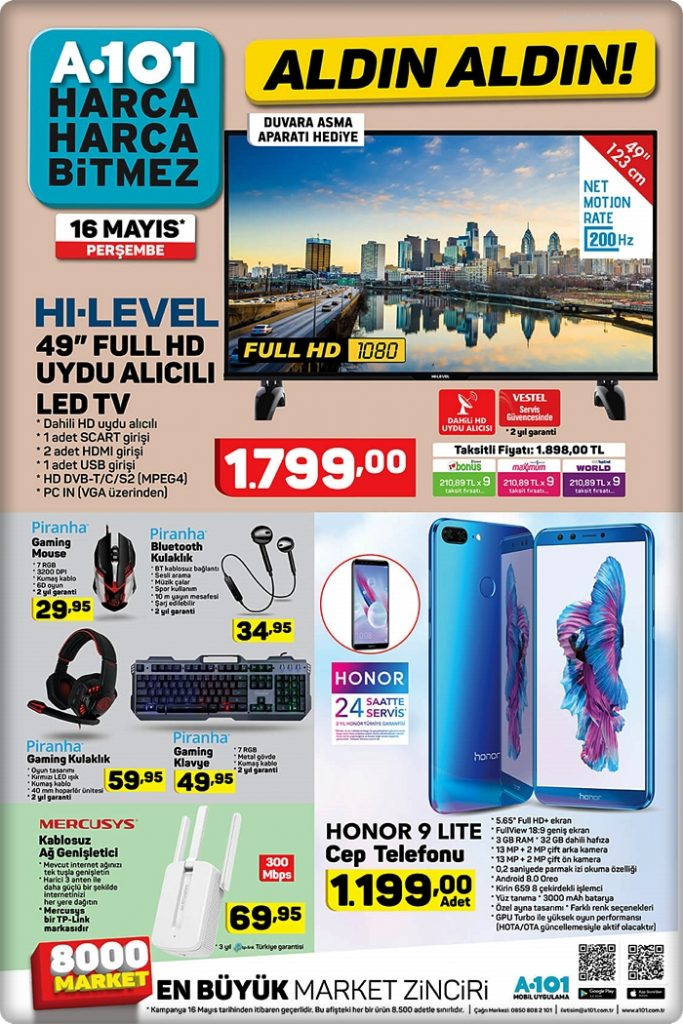 a101 16 mayıs 2019 piranha gaming mouse klavye