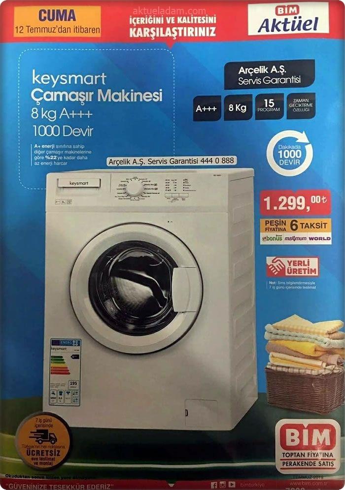bim 12 temmuz 2019 keysmart çamaşır makinesi