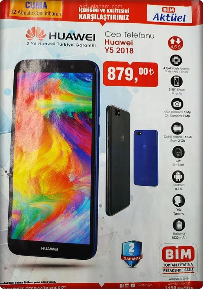 bim 2 ağustos 2019 huawei y5 cep telefonu