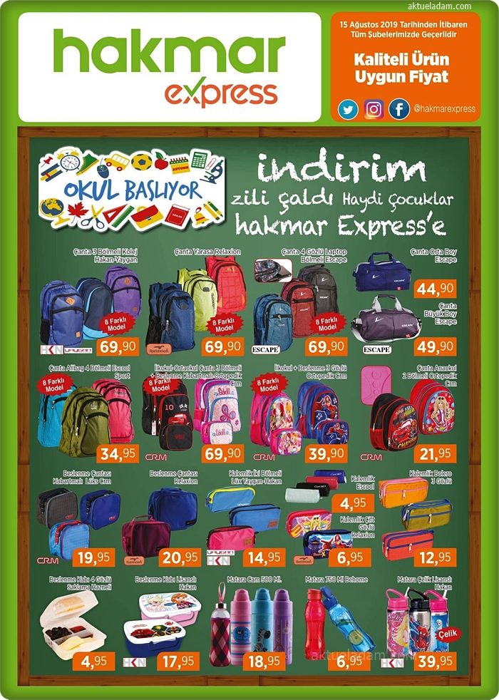 hakmar 15 ağustos 2019 okul çantaları