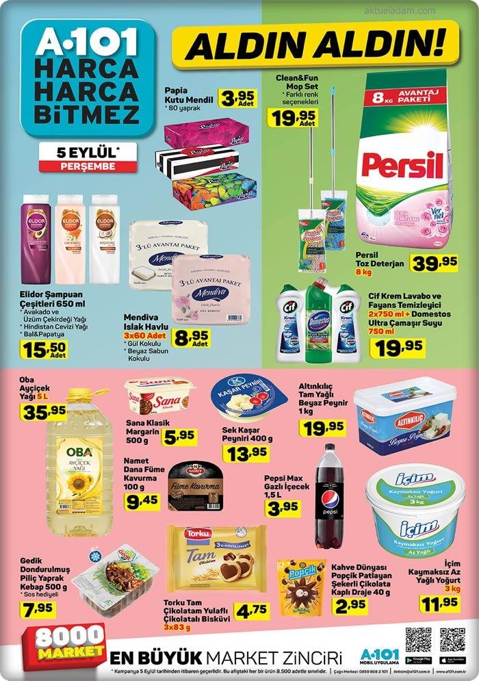 A101 5 Eylül 2019 temizlik ürünleri