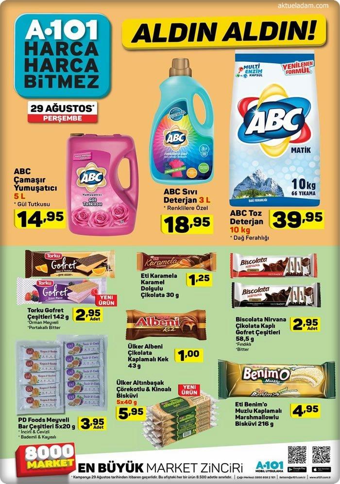 a101 29 ağustos temizlik ürünleri