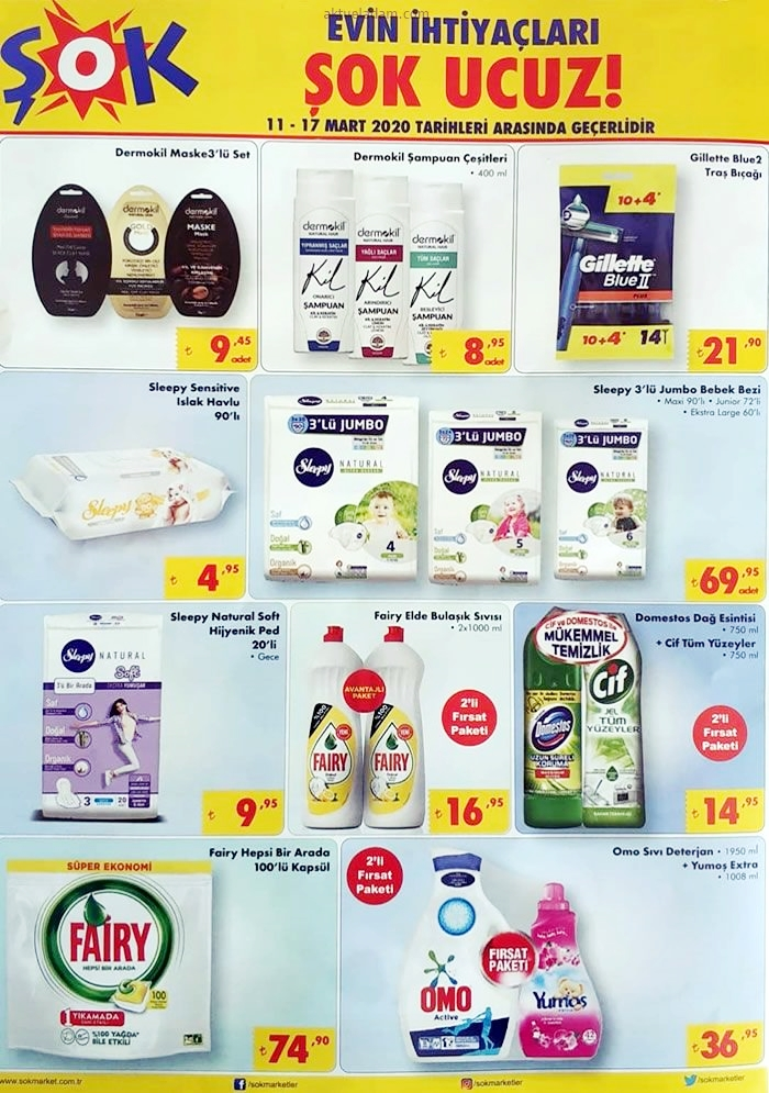 şok 11 mart 2020 şampuan bakım ürünleri