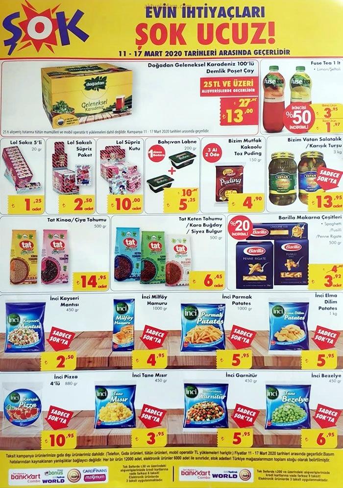 şok 11 mart 2020 gıda ürünleri