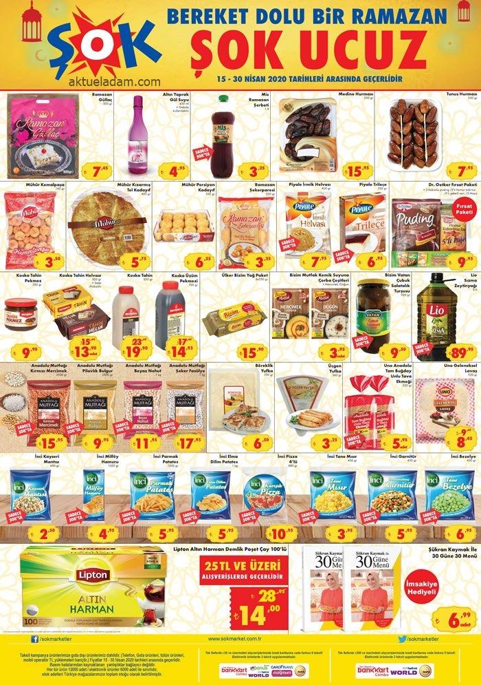 şok 15 nisan 2020 ramazan gıdası
