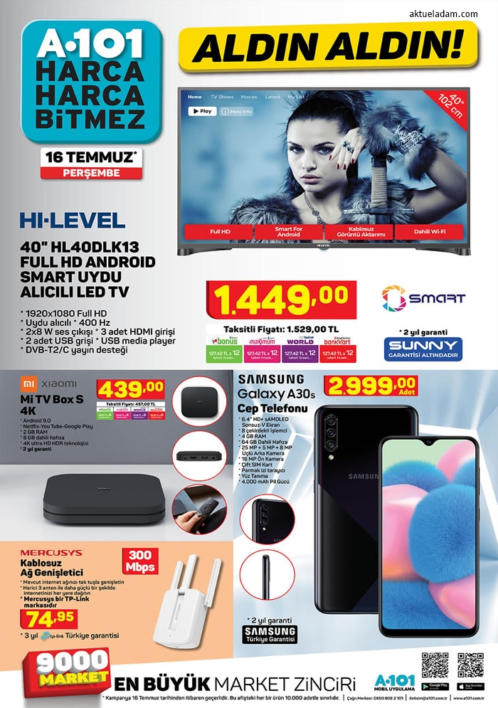 a101 16 temmuz 2020 hi level tv