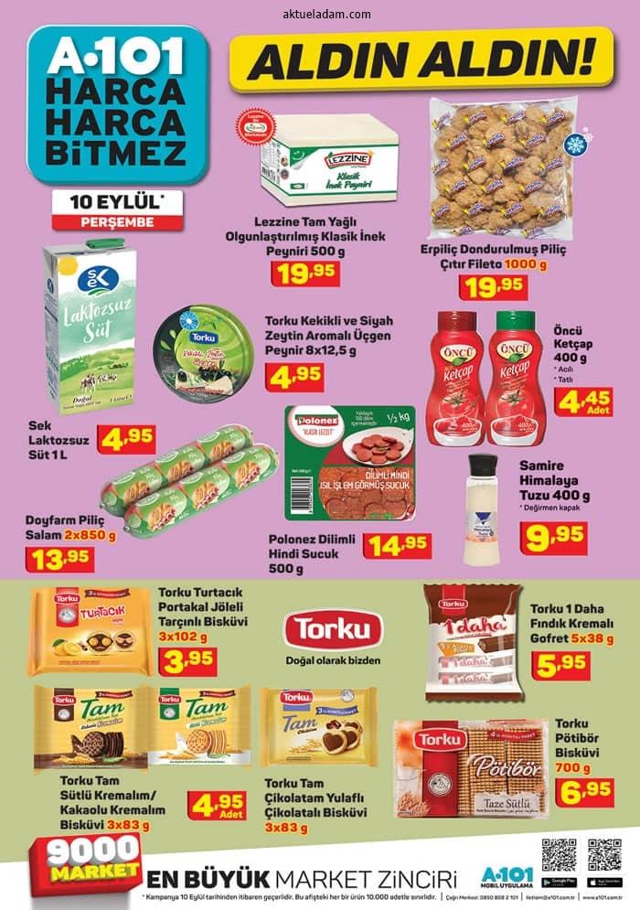 a101 10 eylül 2020 gıda ürünleri