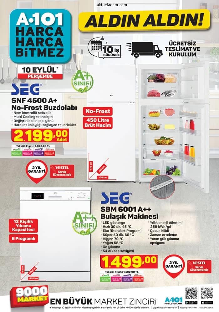 a101 10 eylül 2020 mutfakta elektronik ürünler