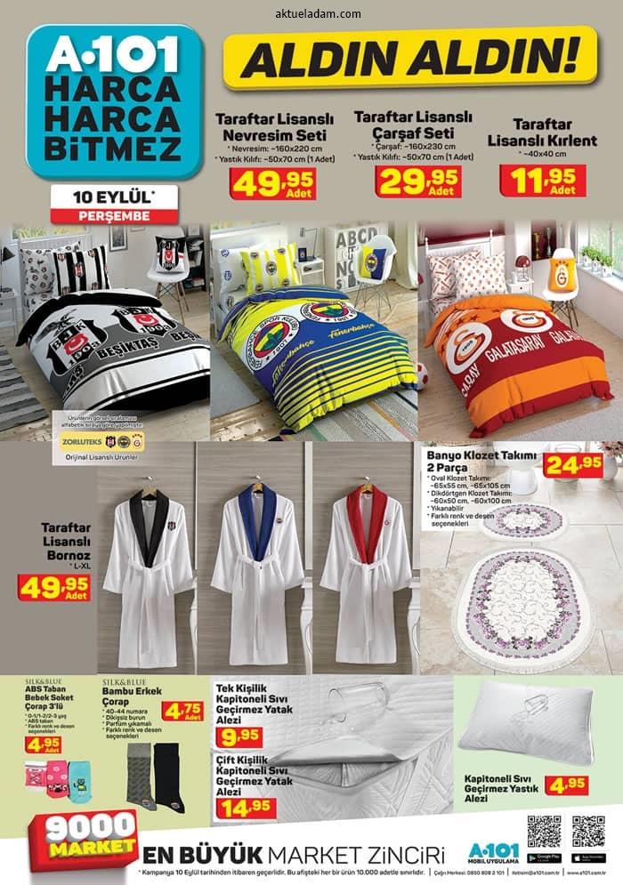a101 10 eylül 2020 tekstil ürünleri
